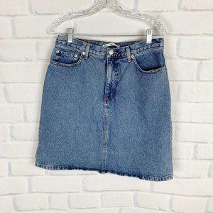 Tommy Hilfiger A Line Vintage Blue Jean Skirt 12